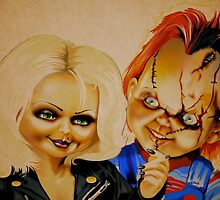 Chucky and his bride by Brian Gibbs