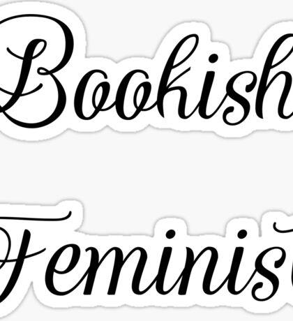 Bookish Feminist  Sticker