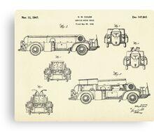 Service Motor Truck-1947 Canvas Print