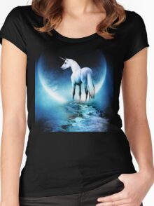 Rembulan : The Horse Women's Fitted Scoop T-Shirt