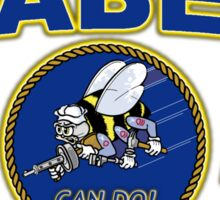 US NAVY SEABEES WE BUILD WE FIGHT CAN DO! Sticker