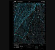 USGS TOPO Map New Jersey NJ Ramsey 20110418 TM Inverted Unisex T-Shirt