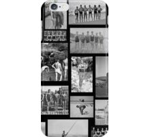 Vintage Swimmers - B&W  iPhone Case/Skin