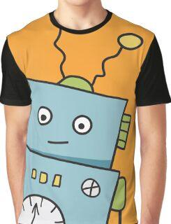 Friendly Blue Robot Graphic T-Shirt
