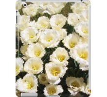 White fringed tulips iPad Case/Skin