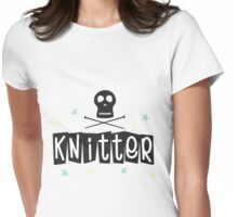 Crafty Kitsch - Knitter (black text) Womens Fitted T-Shirt