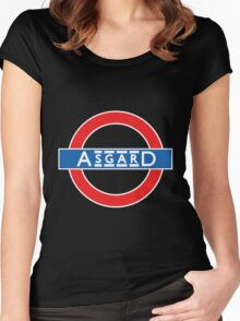London Underground-style Asgard Women's Fitted Scoop T-Shirt