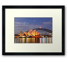 Sydney Opera House and Harbour Bridge at Dawn Framed Print