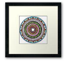 Rainbow Mandala Framed Print