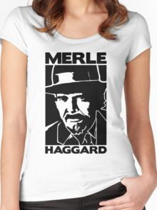 R.I.P MERLE HAGGARD Women's Fitted Scoop T-Shirt