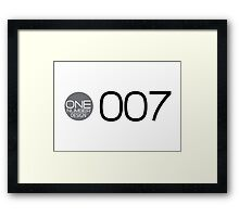 one number design: 007 Framed Print