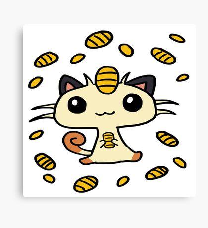 Meowth Maneki Canvas Print
