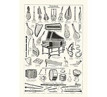 Vintage music Photographic Print
