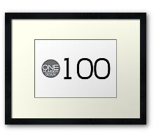 one number design: 100 Framed Print