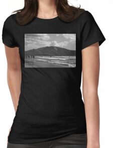 Zakynthos Greek sandy beach Island  Womens Fitted T-Shirt