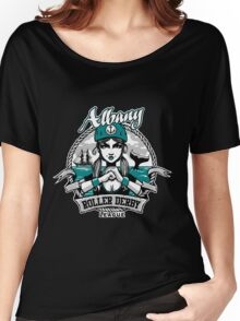 Albany Roller Derby League Logo Women's Relaxed Fit T-Shirt