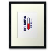 Application Loading iPhone Cover - Buffering Case Framed Print