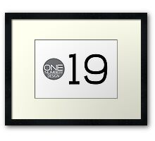one number design: 19 Framed Print