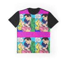 Retro office romance, pop art secretary & boss Graphic T-Shirt