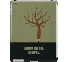 Grow Or Die Simple Corporate Start-up Quotes iPad Case/Skin