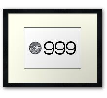 one number design: 999 Framed Print
