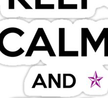 KEEP CALM and be a unicorn in purple Sticker