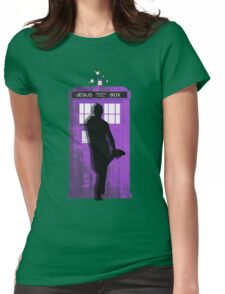The Jesus private call box Tardis Womens Fitted T-Shirt