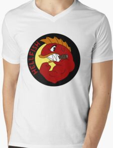 Hellfish Mens V-Neck T-Shirt