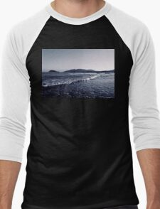 Zakynthos Greek sea shore landscape  Men's Baseball ¾ T-Shirt