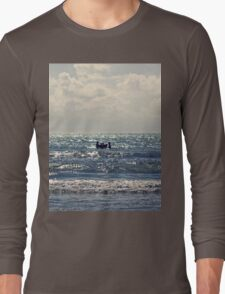 Couple swimming in the Moonlight Long Sleeve T-Shirt