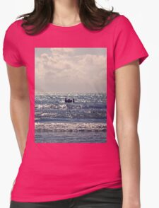 Couple swimming in the Moonlight Womens Fitted T-Shirt