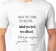 Gautama Buddha quote, black Unisex T-Shirt