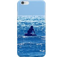 Couple swimming in the Moonlight iPhone Case/Skin