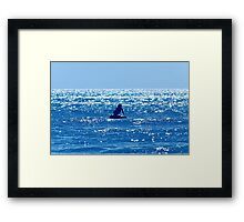 Couple swimming in the Moonlight Framed Print