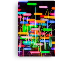 Lights Criss Cross Canvas Print