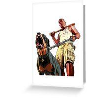 Gta 5 Franklin Greeting Card