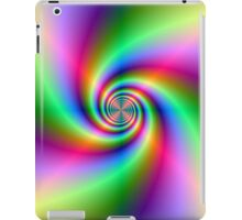 Psychedelic Neon Spiral iPad Case/Skin