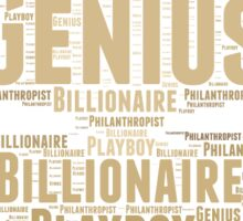 Genius Billionaire Sticker