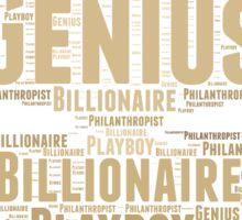 Genius Billionaire Sticker