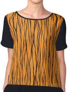 Tiger Skin Chiffon Top