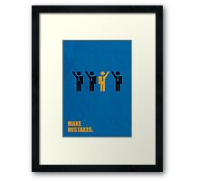 Make Mistakes - Corporate Start-up Quotes Framed Print