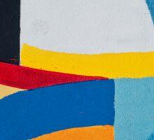 Street art - minimalist colorful painting Sticker