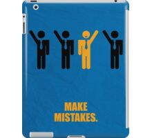 Make Mistakes Corporate Start-up Quotes iPad Case/Skin