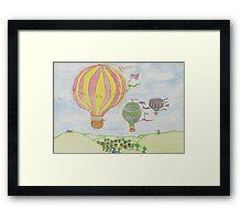 Percy's Balloon Framed Print