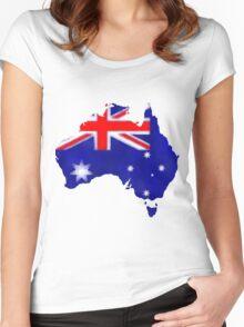 Australian Flag Women's Fitted Scoop T-Shirt