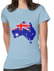 Australian Flag Womens Fitted T-Shirt