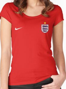 ENGLAND The Three Lions Women's Fitted Scoop T-Shirt