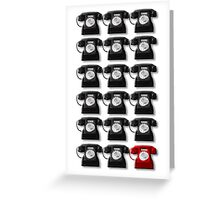 The Telephone Always Rings Twice Greeting Card