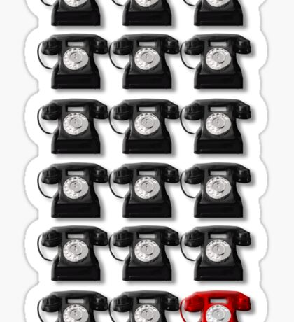 The Telephone Always Rings Twice Sticker