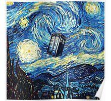 Tardis Starry Night Art Painting Poster